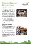 Tillbehör / Optioner Biogasstationer
